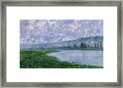 The Seine At Vetheuil Framed Print by Claude Monet
