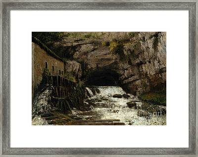 The Source Of The Loue Framed Print