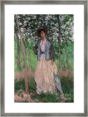 The Stroller   Framed Print by Claude Monet