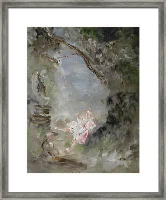 The Swing Framed Print by Edward Wolverton