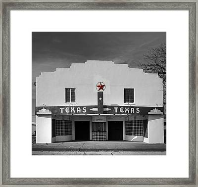The Texas Theatre Of Bronte Texas Framed Print by Mountain Dreams