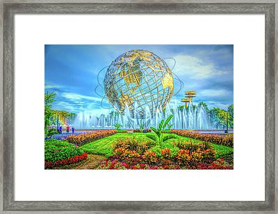 Framed Print featuring the photograph The Unisphere by Theodore Jones