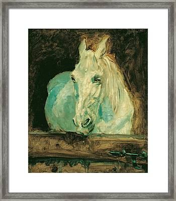 The White Horse Gazelle Framed Print