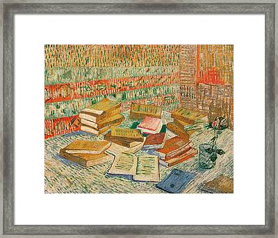 The Yellow Books Framed Print