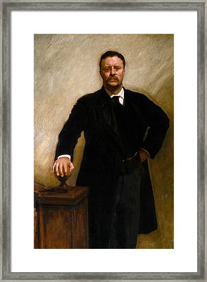 Theodore Roosevelt Framed Print by John Singer Sargent