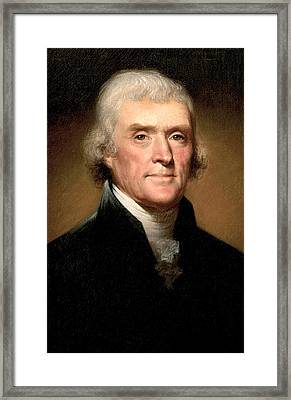 Thomas Jefferson Framed Print by Rembrandt Peale