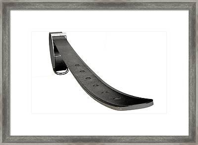 Tightening Belt Framed Print by Allan Swart