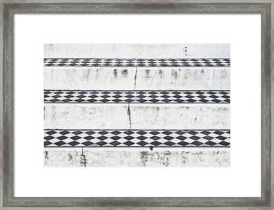 Tiled Steps Framed Print