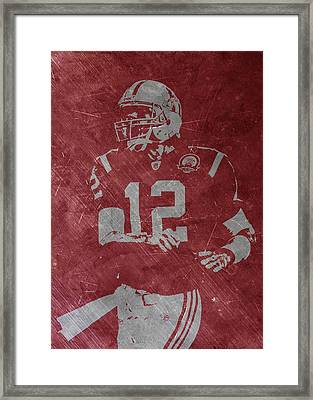 Tom Brady Patriots Framed Print