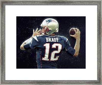 Tom Brady Framed Print by Semih Yurdabak