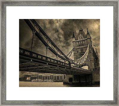 Tower Bridge Framed Print by Martin Newman