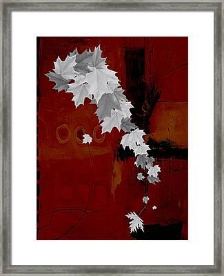 Tree Leaves Art. Framed Print