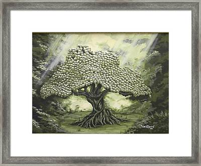 Tree Of Skulls Framed Print by Eric Barich