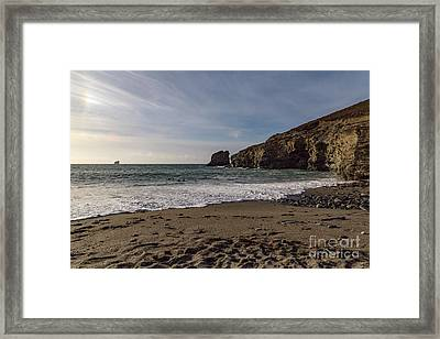 Framed Print featuring the photograph Trevellas Cove Cornwall by Brian Roscorla