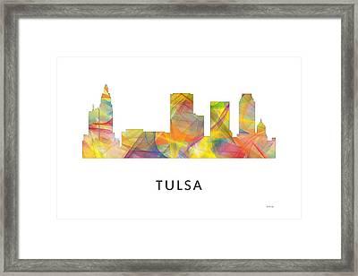 Tulsa Oklahoma Skyline Framed Print by Marlene Watson