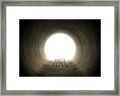 Tunnel Text And Shadow Concept Framed Print by Allan Swart