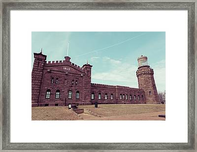Twin Lights Lighthouse Atlantic Highlands New Jersey Framed Print by Erin Cadigan