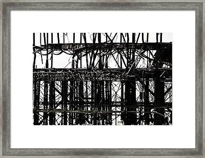 Twisted Metal Framed Print by Martin Newman