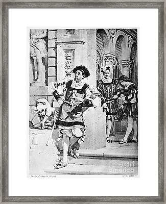 Two Gentlemen Of Verona Framed Print by Granger