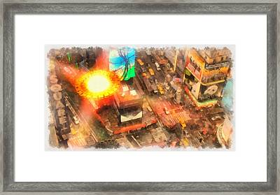 Ufo In The City Framed Print