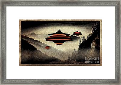 Ufo Pop Art By Raphael Terra Framed Print by Raphael Terra