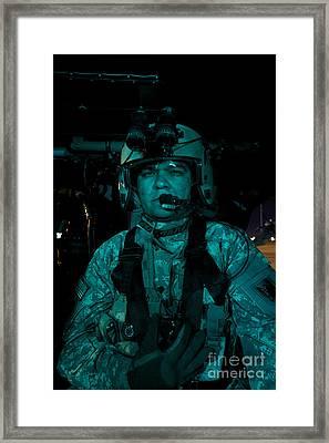 Uh-60 Black Hawk Crew Chief Framed Print