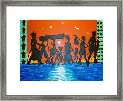 Uhuru Series Framed Print by Malik Seneferu