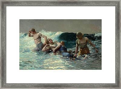 Undertow Framed Print by Winslow Homer