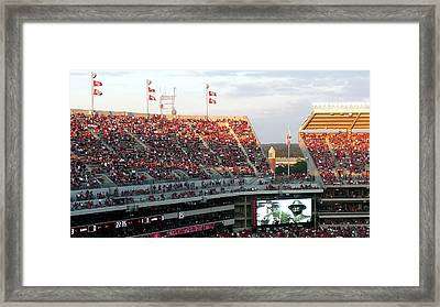 Upperdeck Panorama Framed Print by Kenny Glover