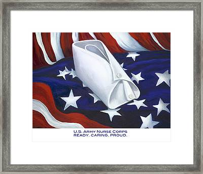 Framed Print featuring the  U.s. Army Nurse Corps by Marlyn Boyd