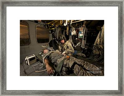 U.s. Army Specialist Practices Giving Framed Print