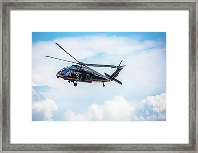 Black Hawk Us Custom And Border Protection Framed Print