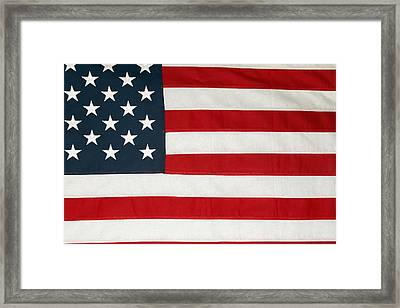 U.s. Flag Framed Print by Les Cunliffe