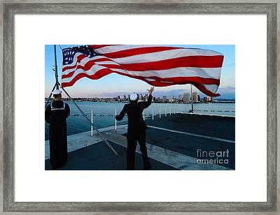 Uss Ronald Reagan Framed Print