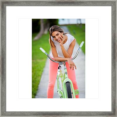 Valentina Ferrer Fashion Shoot Framed Print
