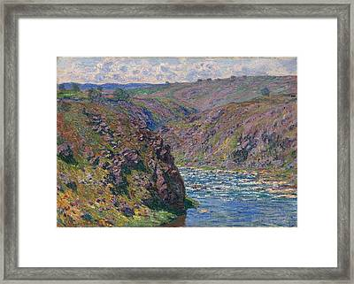 Valley Of The Creuse Framed Print by MotionAge Designs