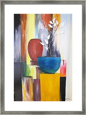 Framed Print featuring the painting 3 Vases by Gary Smith
