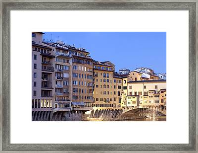 Vecchio Bridge Framed Print by Andre Goncalves