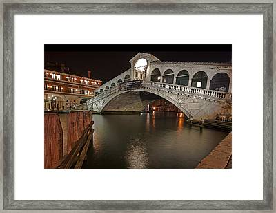 Venice By Night Framed Print by Joana Kruse