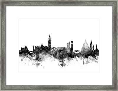 Venice Italy Skyline Framed Print