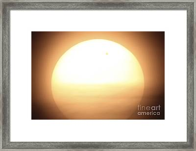Venus Transiting In Front Of The Sun Framed Print