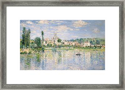 Vetheuil In Summer Framed Print by Claude Monet