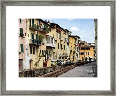 Via Del Fosso With Canals In Lucca Framed Print