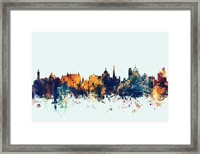 Victoria Canada Skyline Framed Print by Michael Tompsett