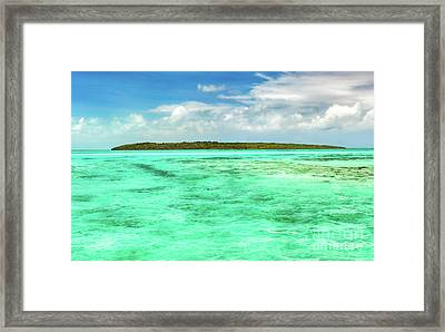 View Of A Sea At Day Time. Mauritius. Panorama Framed Print