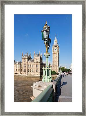View Of Big Ben And Houses Framed Print by Panoramic Images
