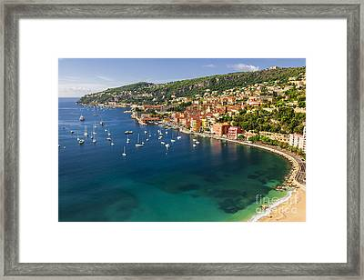 Villefranche-sur-mer View On French Riviera Framed Print