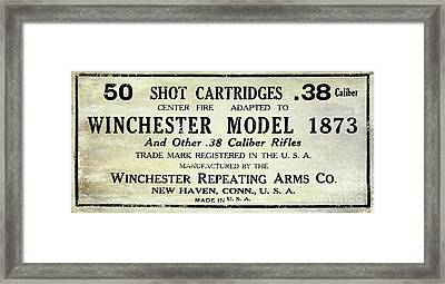Vintage Ammunition Sign Framed Print by Jon Neidert