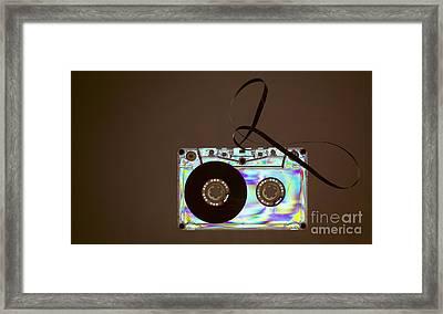 Vintage Cassette Tape Framed Print