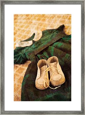 Vintage Dress Framed Print by Erin Cadigan